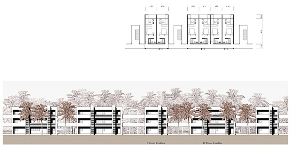 Resort Elevation Plan : Atrium design architecture interior consultant